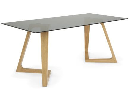Moseley 180 cm Smoked Glass Dining Table