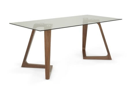 Moseley 180 cm Clear Glass Dining Table