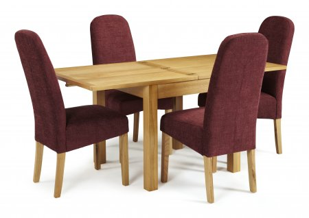 Geraldton Extended and Albury Fabric Dining Set