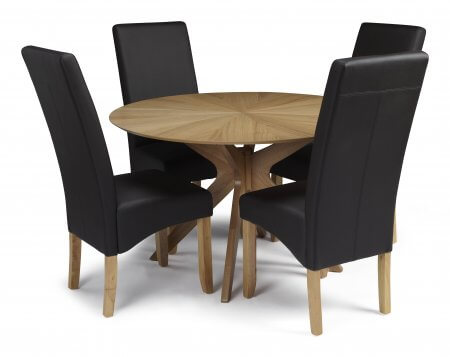 Rockhampton and San Diego Faux Leather Dining Set