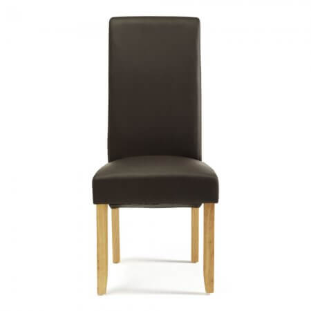 Melbourne Faux Leather Dining Chairs with Oak Legs