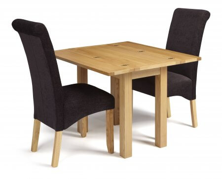 Mildura Extended and Melbourne Plain Fabric Dining Set