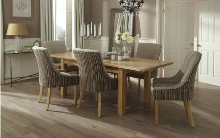 Brisbane Extendable and Adelaide Fabric Dining Set