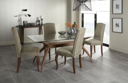 Bathurst Rectangular Glass and Darwin Fabric Dining Set
