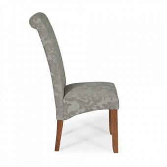 Melbourne Floral Dining Chair with Walnut Legs