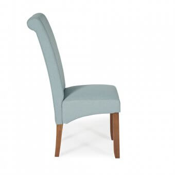 Melbourne Plain Fabric Dining Chair with Walnut Legs
