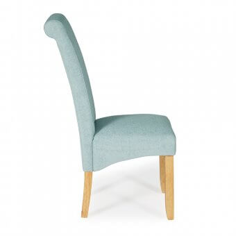 Melbourne Plain Fabric Dining Chair with Oak Legs
