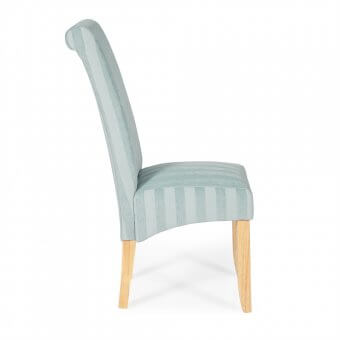 Melbourne Stripe Dining Chair with Oak Legs