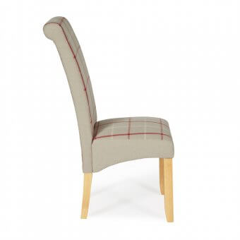 Melbourne Tartan Dining Chair with Oak Legs