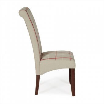 Melbourne Tartan Dining Chair with Walnut Legs