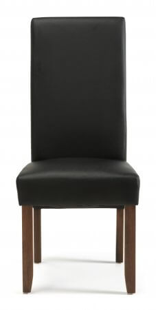 San Diego Faux Leather Dining Chair with Walnut Legs