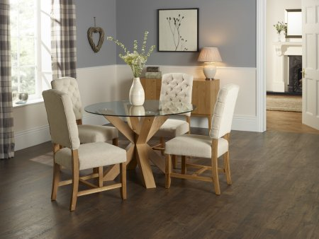 Venice and Abruzzo Fabric Dining Set