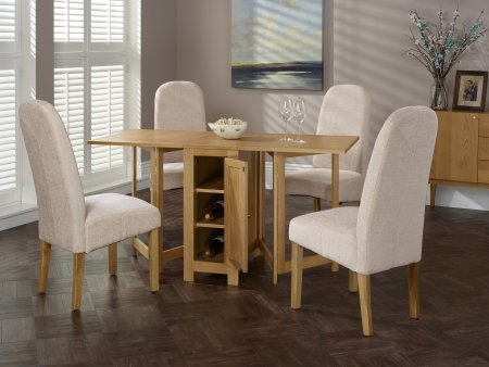 Treviso and Albury Fabric Dining Set