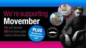 We're raising money for Movember!