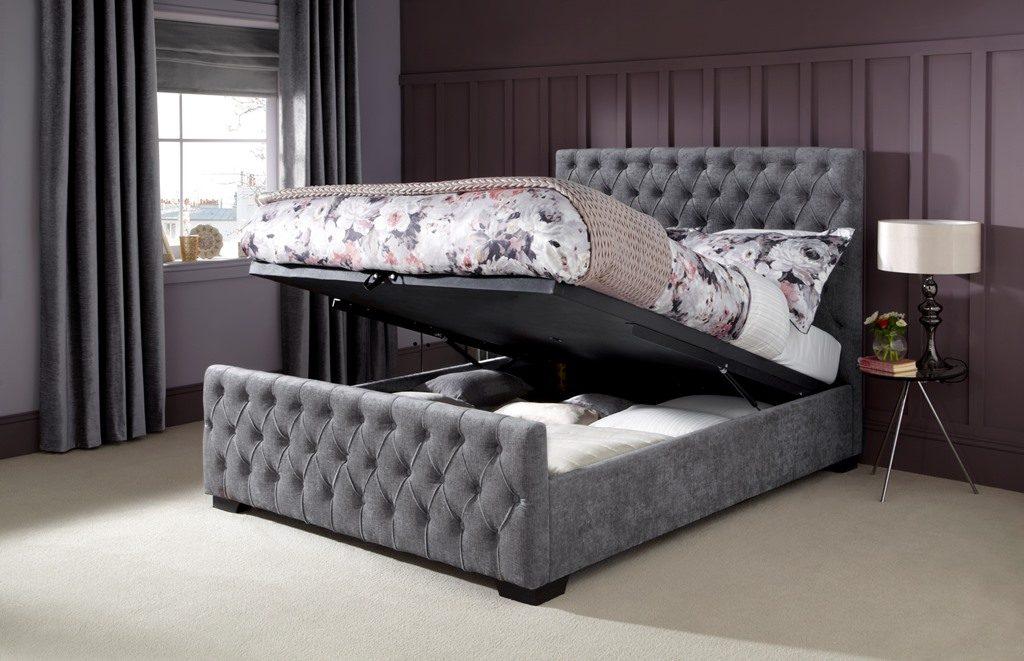 Saskia grey ottoman best bed