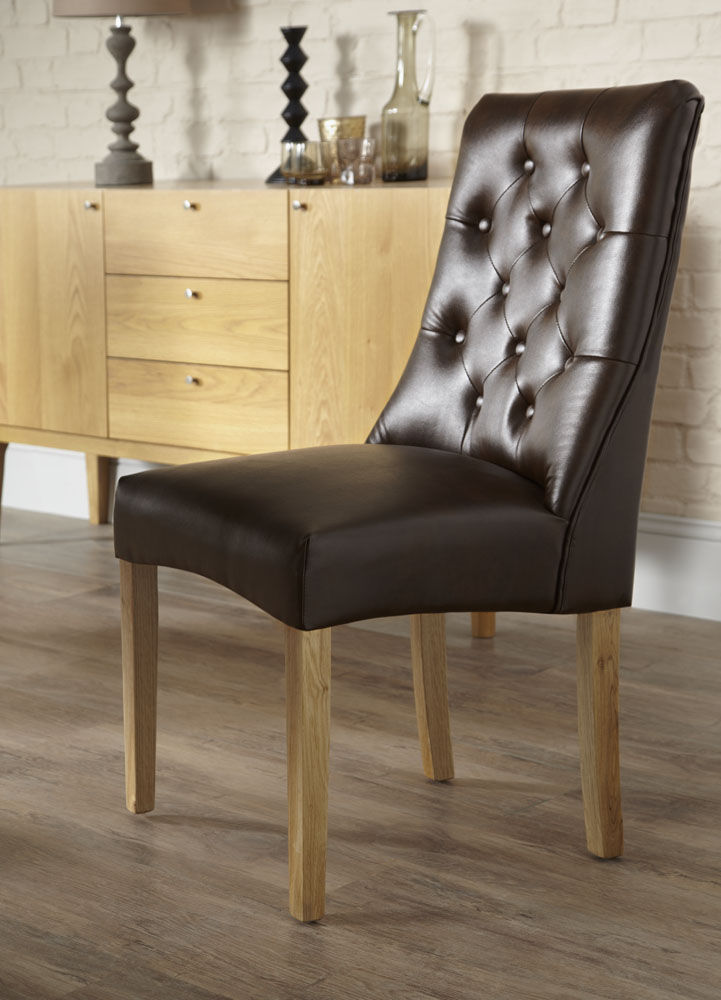 Cairns Brown Faux Leather Dining Chair