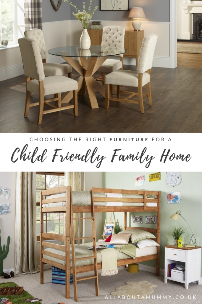 Choosing the right furniture for a child friendly family home