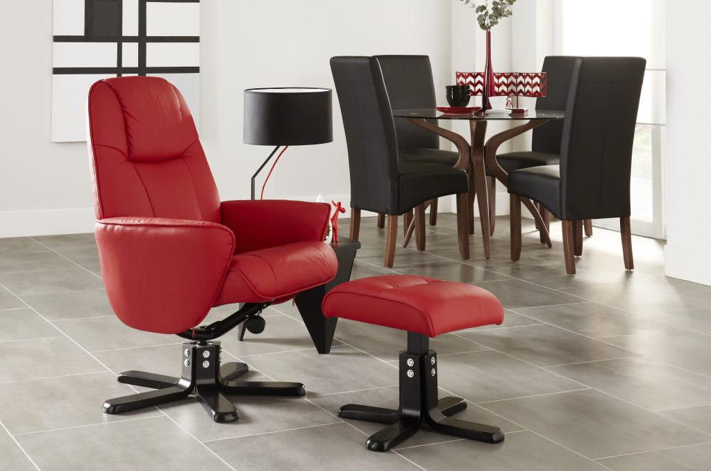 Dominican Recliner with Footstool