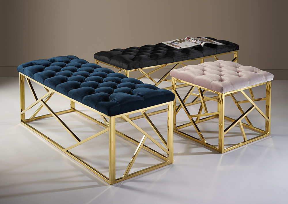 Hallie Bench and Stool