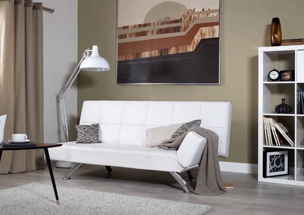 Sorrento White Sofa Bed